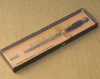 King Gold Vintage Sword Letter Opener, Original Gift Box Included