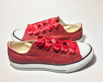 Ruby Red Glitter Converse or Choose Your Color