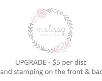 upgrade to front & back hand stamping