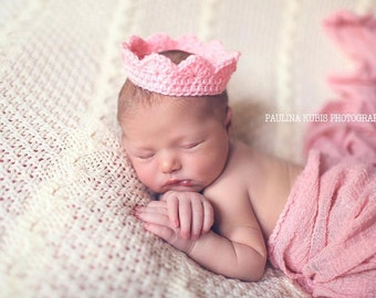 Crochet Crown, Princess Crown, Little Crown, Newborn Prince, Prince Crown, Crochet Newborn Crown, Photography Prop, Variety of Colors.