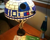 R2D2 Stained Glass Tiffany Style Lampshade 16 in-1625 obo