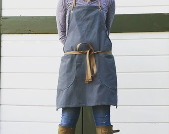 Canvas Utility Apron made to order allow 7-10 business days