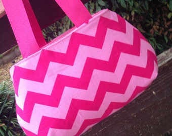 Pink Chevron Little Girl's Purse
