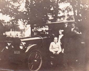 Vintage Photo - The Model T Family - Vernacular, Found Photo, Ephemera, Snapshot (A)