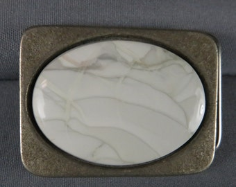 Willow Creek Belt Buckle hand crafted Natural Stone buckle