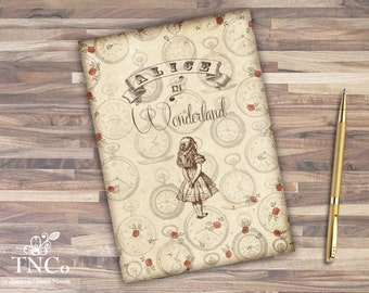 Alice in wonderland art journal, Alice junk journal, printable pages, White rabbit journal, christmas gift, Sir John Tenniel illustrations