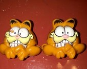 1989 Brookside Garfield the cat bow biters for shoe laces