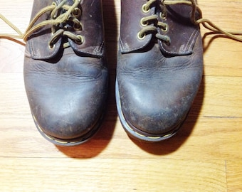 Vintage Dr. Marten Shoes Doc Marten Oxfords Tie Shoes Shoes Grunge Shoes Leather Lace Ups