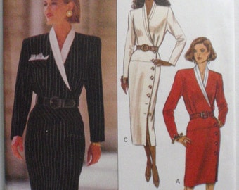 Butterick EXPO Sewing Pattern - Dress With Side Front Button Closure - Butterick 6512 - Sizes 12-14-16, Bust 34 - 38, Uncut
