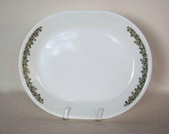 Vintage Corelle Spring Blossom Serving Platter Serving Tray Crazy Daisy Green Oval Serving Platter