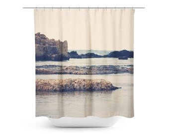 Navy Shower Curtain Etsy
