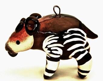 Okapi Christmas Ornament