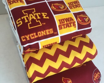Iowa State Cyclones Burp Rag 3-pack ISU Cloth Diaper