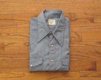 vintage Big Mac chambray western shirt