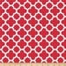Riley Blake Fabric | Red and White Quatrefoil | Scarlet | By The Yard