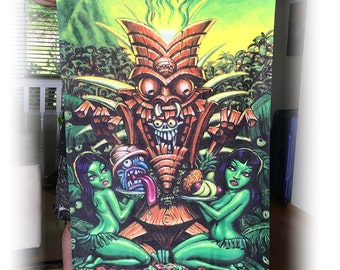BigToe's Zombie Tiki Beach Towel