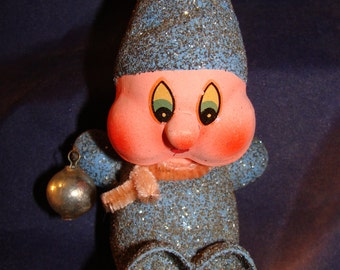 Kurt S. Adler Gnome Elf Amorphous Christmas Ornament With Bell 1957