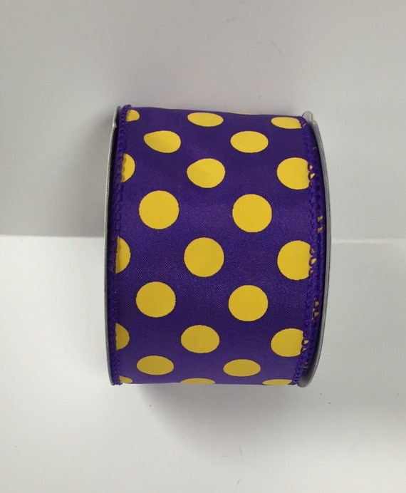 25 inch purple yellow dot ribbon 2240851048 wired