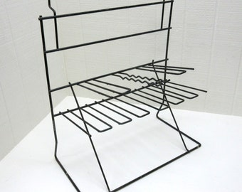 Vintage Metal Display Rack Peg Board Display Rack
