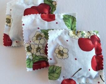 Lavender Sachets-Cherry Print- (Set of 3)