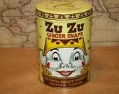 Vintage 1982 Zu Zu Ginger Snaps Tin - item #1407