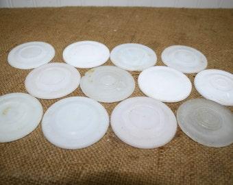 Milk Glass Inserts for Mason Jar Lids - set of 12 - item #1387