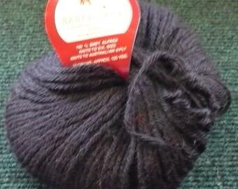 Plymouth Yarn - 100% Baby Alpaca - Color Black 100 - 50 Grams - 125 Yards - Read Description