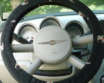 Save 10% Fleece - ( Warm ) -  Car  Steering Wheel Cover - ( Cars Only ) -  Price Is For Each - Scottie Embroidered