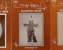The Emmett Kelly Jr. Collectors Series – Stand-Up Clown EKJ2, The Balancing Act EKJ3, A Hole in the Sole EKJ4 – Set of 3 Cross Stitch Charts