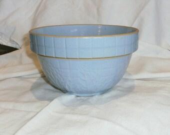 Vintage Blue Stoneware Bowl