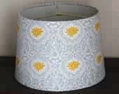 Yellow & Grey Blue Large Modern Drum Lamp Shade