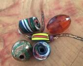 5 Vintage Venetian Trade Beads