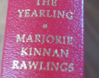 The Yearling by Marjorie Kinnan Rawlings Franklin Library 1984 illustrated 1939 Pulitzer Classic