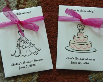 Customized Bridal Shower Love-in-a-Mist Flower Seed Packet Favors