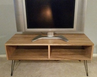Reclaimed Wood TV Stand Wood Console Entertainment Center Television Stand Mid Century Modern