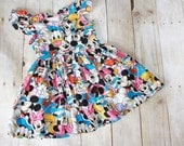 Mouse Duck Lap Dress. Made to order.