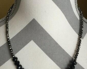 SALE-Beaded choker, beaded necklace, choker, hand made, custom made, satement necklace, bridal jewelry