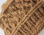 "Knitted ""Warm Brown"" Beanie, Head Accessory  ***FREE SHIPPING (USA address only)"