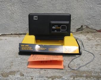vintage kodak disc 6000 camera 1980s electronics with box