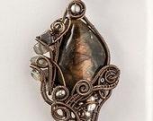 OOAK Labradorite wire wrapped pendant