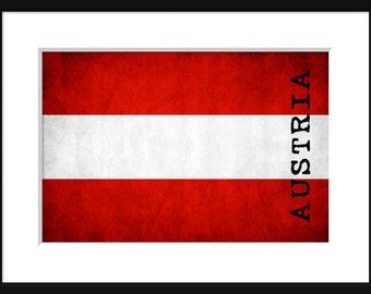 Austria Flag - Print Poster -