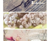 Premade Facebook Timeline Photo Cover Image and Profile Picture, Natural Vintage, Flowers, Outdoors, Small Business, Fan Page