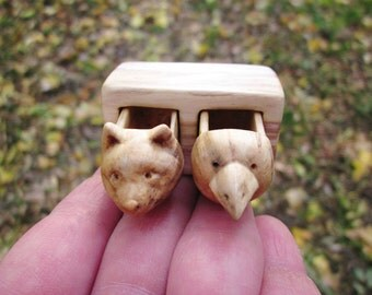 Custom pet portrait, wood carving, wood box, earrings box, stud earrings box, Jewelry box, animal carving, Personalized Gifts