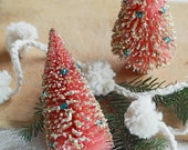 Vintage Pink Bottle Brush Tree