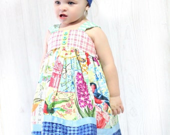 Girls Knot Dress Menagerie Collection Toddler Infant Girls