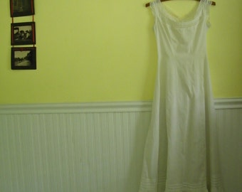 Edwardian Cotton Full Slip, XS