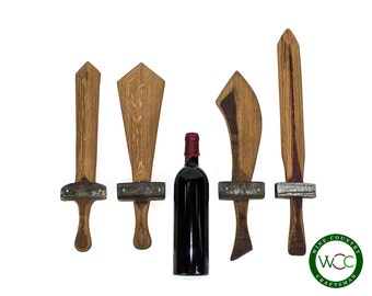 Wooden Sword - Wine Barrel Stave // upcycled // boys and toys // gifts for him // knight // Longsword // ax // broadsword // scimitar