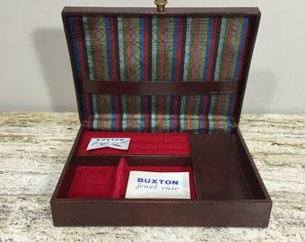 Buxton Jewel Case, Mens Valet, Cuff Links Box, Dresser Valet, Tie Bar Storage Box, Lord Buxton Jewel Case