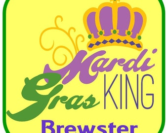 Cute Mardi Gras Celebration Square Crown and King at Giggles to Go