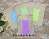 Treat Bag, Easter Bag, Easter Treat bag, Favor Bag, Bunny bag